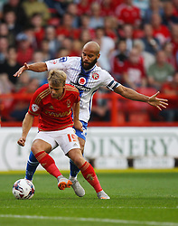 Jamie Ward of Nottingham Forest (L) and Adam Chambers of Walsall in action - Mandatory byline: Jack Phillips / JMP - 07966386802 - 11/08/15 - FOOTBALL - The City Ground - Nottingham, Nottinghamshire - Nottingham Forest v Walsall - Football League Cup Round 1