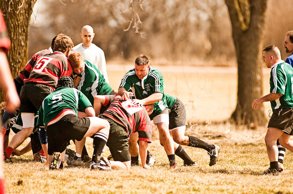 University of South Dakota Rugby's 30th anniversary game with alumni.