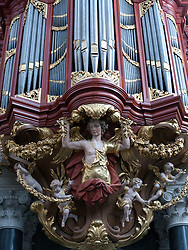 The famous organ in Sint-Bavokerk (or St Bavo's church), Haarlem, Netherlands