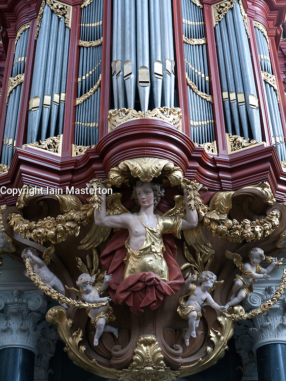 The famous organ in Sint-Bavokerk (or St Bavo's church), Haarlem, Netherlands