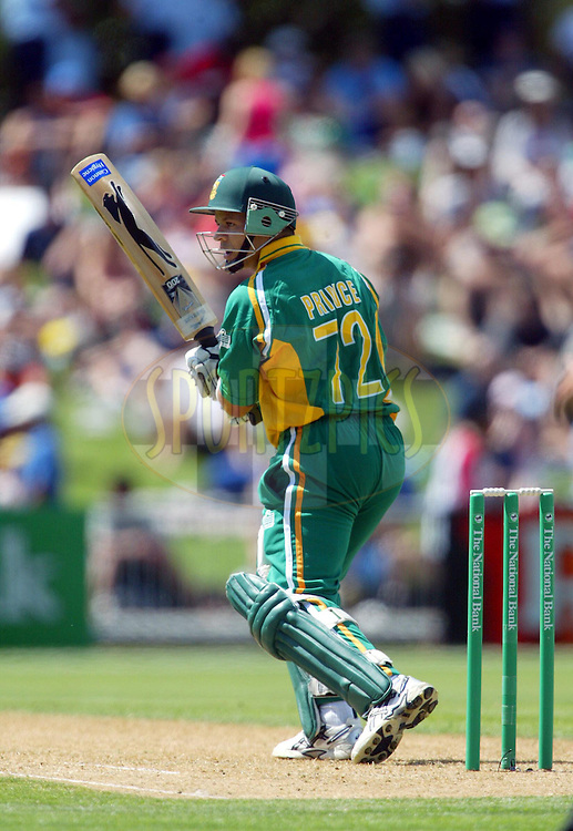 17  March 2004. New Zealand vs South Africa International one day cricket at McLean Park, Napier, New Zealand. Match 6 in series of 6..Ashwell Prince..Pic: Andrew Cornaga/Photosport