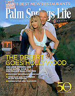 Palm Springs Life Magazine Cover story on Suzanne Somers and Alan Hamels estate in the Mesa area of Palm Springs.