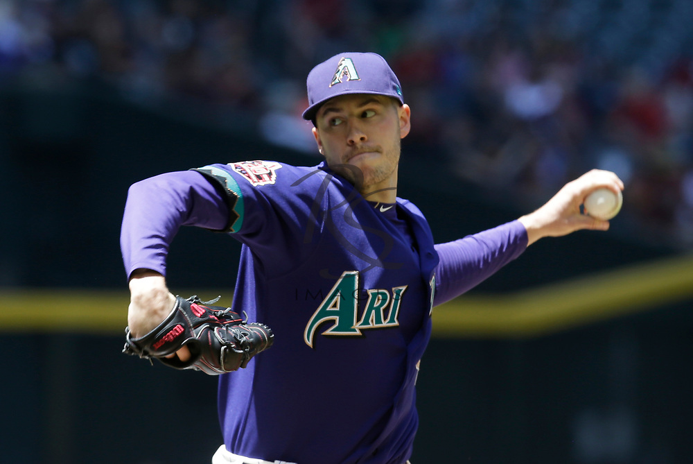Arizona Diamondbacks starting pitcher Patrick Corbin (46) in the first inning during a baseball game against the Los Angeles Dodgers, Thursday, May 3, 2018, in Phoenix. (AP Photo/Rick Scuteri)