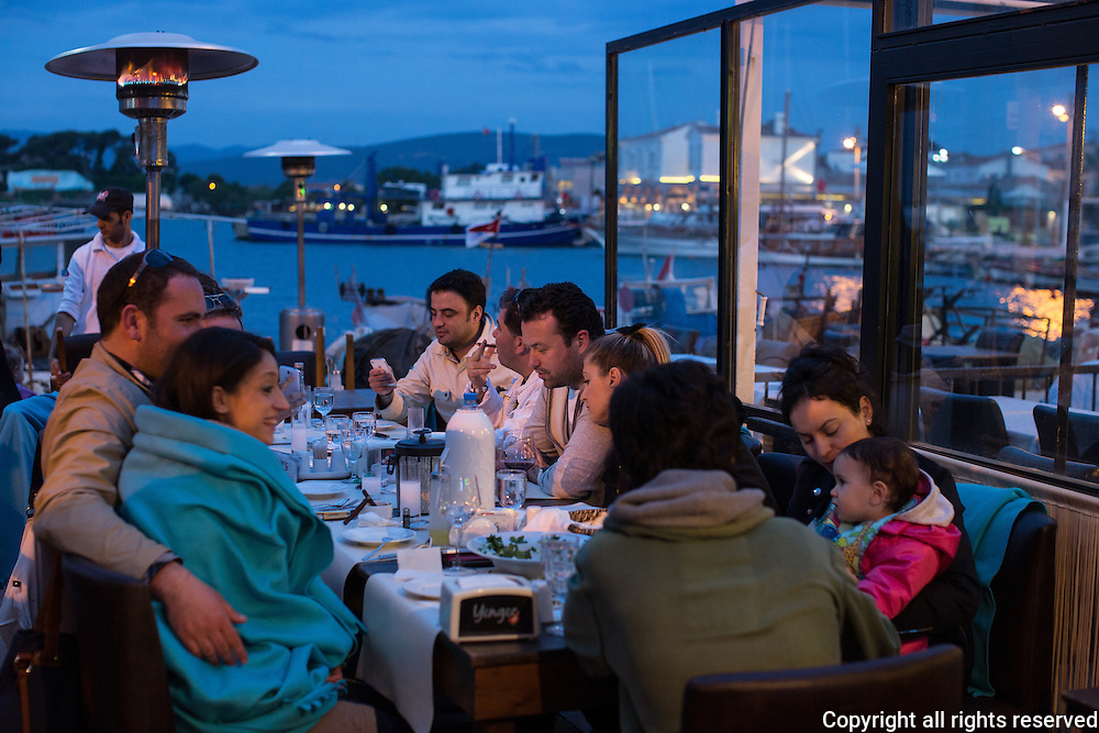 Dinner by the harbor at Yengec, Urla