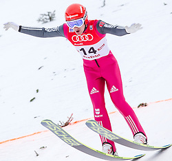 18.01.2014, Casino Arena, Seefeld, AUT, FIS Weltcup Nordische Kombination, Seefeld Triple, Skisprung, im Bild Tobias Haug (GER) // Tobias Haug (GER) during Ski Jumping at FIS Nordic Combined World Cup Triple at the Casino Arena in Seefeld, Austria on 2014/01/18. EXPA Pictures © 2014, PhotoCredit: EXPA/ JFK