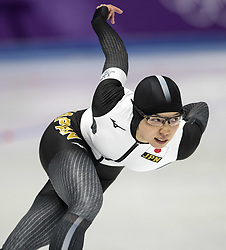 February 18, 2018 - Pyeongchang, South Korea - Nao KODAIRA of Japan on her way to setting an Olympic Record during the Speed Skating Ladies' 500m at the Gangneung Oval during the 2018 Pyeongchang Winter Olympic Games. (Credit Image: © Daniel A. Anderson via ZUMA Wire)