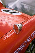 Image of a side mirror on a Porsche 911 at the Rennsport Reunion III at Daytona International Speedway, Daytona, Florida, American Southeast