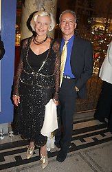 Actress HONOR BLACKMAN and actor NIKOLAS GRACE at a party to celebrate the publication of  'Put On Your Pearl Girls!' by Lulu Guinness held at the V&A museum, London on 5th May 2005.<br /><br />NON EXCLUSIVE - WORLD RIGHTS