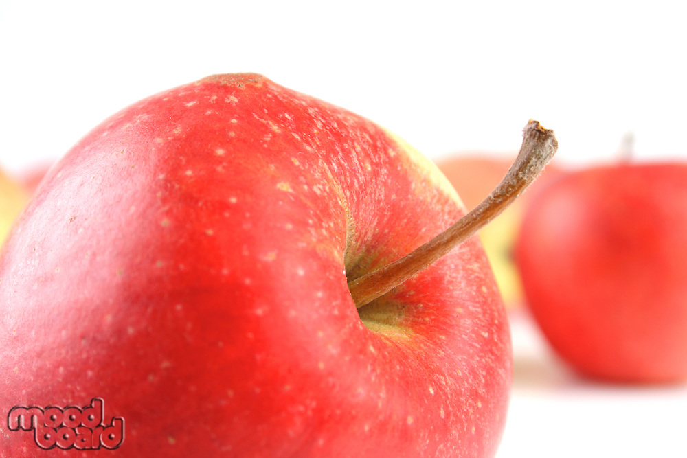 Red apples o white background