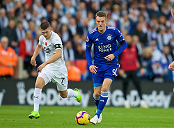 LEICESTER, ENGLAND - Saturday, November 10, 2018: Leicester City's Jamie Vardy during the FA Premier League match between Leicester City FC and Burnley FC at the King Power Stadium. (Pic by David Rawcliffe/Propaganda)