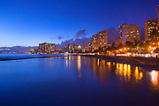 Twilight, Waikiki, Honolulu, Oahu, Hawaii