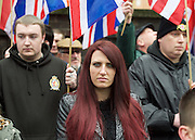 Far right activists protesting outside Regent's Park Mosque in Central London, Great Britain <br /> 3rd April 2015 <br /> <br /> <br /> Members of <br /> <br /> Britain First <br /> <br /> <br /> <br /> Photograph by Elliott Franks <br /> Image licensed to Elliott Franks Photography Services