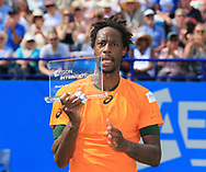 Finalist GAEL MONFILS (FRA) mit Pokal, Finale, Endspiel<br /> <br /> Tennis - Aegon International Eastbourne - ATP -  Devonshire Park Lawn Tennis Club - Eastbourne -  - Great Britain  - 1 July 2017. <br /> &copy; Juergen Hasenkopf