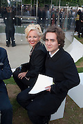 AMANDA ELIASCH; CHARLES ELIASCH, 2009 Serpentine Gallery Summer party. Sponsored by Canvas TV. Serpentine Gallery Pavilion designed by Kazuyo Sejima and Ryue Nishizawa of SANAA. Kensington Gdns. London. 9 July 2009.