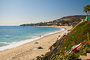 A Sandy Beach In Laguna Beach California