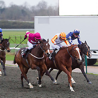 Sudden Wish and Dominic Fox winning the 3.20 race