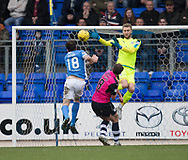 St Johnstone&rsquo;s Paul Paton heads his side into the lead - St Johnstone v Dundee in the Ladbrokes Scottish Premiership at McDiarmid Park, Perth: Picture &copy; David Young<br /> <br />  - &copy; David Young - www.davidyoungphoto.co.uk - email: davidyoungphoto@gmail.com