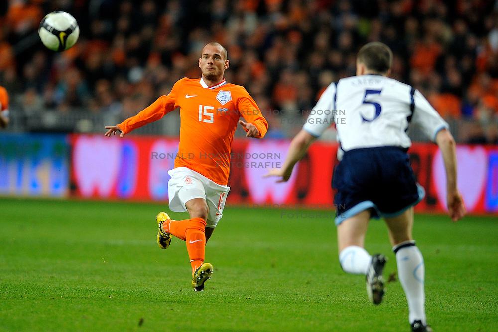 28-03-2009 VOETBAL: WK KWALIFICATIE NEDERLAND - SCHOTLAND: AMSTERDAM<br /> Wesley Sneijder<br /> &copy;2009-WWW.FOTOHOOGENDOORN.NL