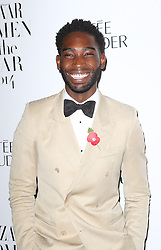 © Licensed to London News Pictures. 04/11/2014, UK. Tinie Tempah, Harper's Bazaar Women of the Year Awards, Claridge's, London UK, 04 November 2014. Photo credit : Richard Goldschmidt/Piqtured/LNP