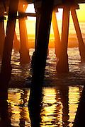 Sunset Through The San Clemente Pier