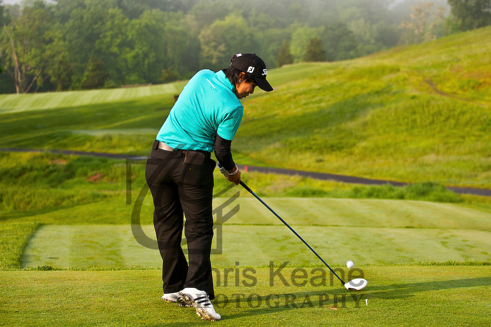 16 May 2012: Julieta Granada plays her tee shot on the first hole during the Sybase Match Play Championship at Hamilton Farm Golf Club in Gladstone, New Jersey on May 16, 2012.
