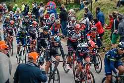 Peloton with KWIATKOWSKI Michal of Team Sky during the UCI WorldTour 103rd Liège-Bastogne-Liège from Liège to Ans with 258 km of racing at Cote de Pont, Belgium, 23 April 2017. Photo by Pim Nijland / PelotonPhotos.com | All photos usage must carry mandatory copyright credit (Peloton Photos | Pim Nijland)