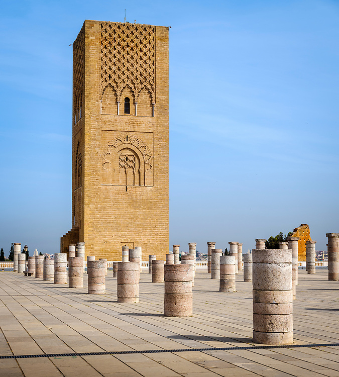 RABAT, MOROCCO - CIRCA APRIL 2017: Exterior of the Mausoleum of Mohammed V in Rabat.