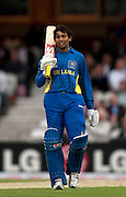 Tillakaratne Dilshan falls short of a century during the ICC World Twenty20 Cup semi-final between Sri Lanka and West Indies at The Oval. Photo © Graham Morris (Tel: +44(0)20 8969 4192 Email: sales@cricketpix.com)
