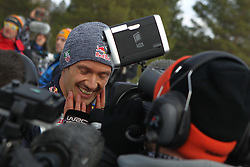 15.02.2015,  Karlstad, SWE, FIA, WRC, Schweden Rallye, im Bild Sebastien Ogier (Volkswagen Motorsport/Polo R WRC) // during the WRC Sweden Rallye at the Karlstad in Karlstad, Sweden on 2015/02/15. EXPA Pictures © 2015, PhotoCredit: EXPA/ Eibner-Pressefoto/ Bermel<br /> <br /> *****ATTENTION - OUT of GER*****