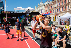 FIBA Basketball World Cup Spain 2014 Trophy Tour, on June 22, 2014 in Ban Jelacic Square, Zagreb, Croatia. Photo By Vid Ponikvar / Sportida