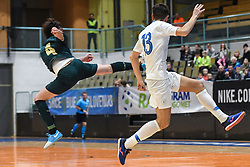 Sergio Romano of Italy and Ziga Ceh of Slovenia during futsal friendly match between National teams of Slovenia and Italy, on December 3, 2019 in Maribor, Slovenia. Photo by Milos Vujinovic / Sportida