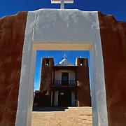 San Geronimo Chapel Roman Catholic Mission church Taos Pueblo Taos New Mexico USA