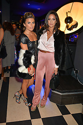 Left to right, ZOE HARDMAN and ROXIE NAFOUSI at a party to celebrate the 1st anniversary of Hello! Fashion Monthly magazine held at Charlie, 15 Berkeley Street, London on 14th October 2015.