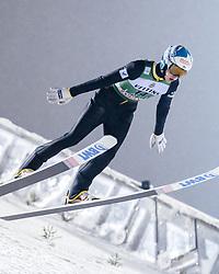 February 8, 2019 - Lahti, Finland - Eetu Nousiainen competes during FIS Ski Jumping World Cup Large Hill Individual Qualification at Lahti Ski Games in Lahti, Finland on 8 February 2019. (Credit Image: © Antti Yrjonen/NurPhoto via ZUMA Press)