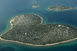 07.10.2012, Zadar, CRO, die gegent um das croatische Zadar aus aus dem Flugzeug, im Bild Island Galesnjak, also called Island of Love // during aerial photography of Zadar area, Zadar, Croatia on 2012/10/07. EXPA Pictures © 2012, PhotoCredit: EXPA/ Pixsell/ Filip Brala..***** ATTENTION - OUT OF CRO, SRB, MAZ, BIH and POL *****