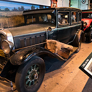 Vintage cars on display at the Smithsonian National Museum of American History in Washington DC.