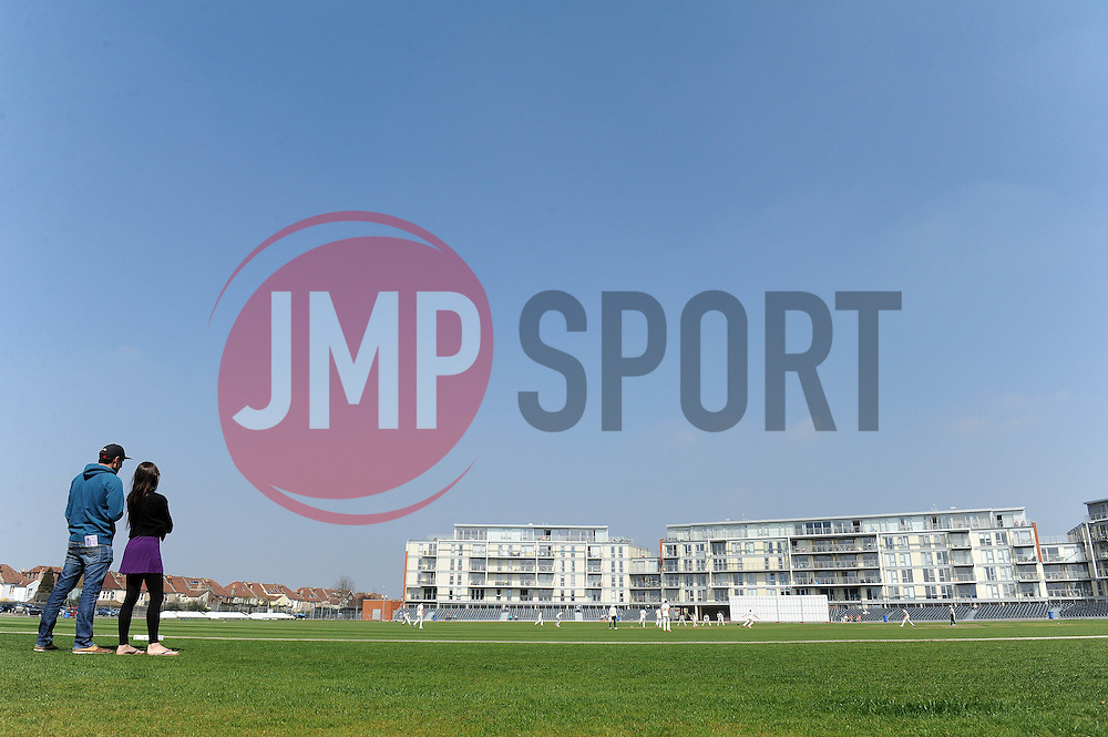 - Photo mandatory by-line: Dougie Allward/JMP - Mobile: 07966 386802 - 09/04/2015 - SPORT - Cricket - Bristol - County Cricket Ground - Gloucestershire County Cricket Club v Cardiff MCCU - Marylebone Cricket Club University Matches