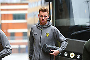 Burton Albion's Tom Naylor arrives at the stadium during the EFL Sky Bet Championship match between Ipswich Town and Burton Albion at Portman Road, Ipswich, England on 10 February 2018. Picture by John Potts.