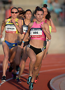 May 16, 2019; Los Angeles, CA, CA, USA; Laurence Cote wins a women's 800m heat in 2:03.47  during the USATF Distance Classic at Occidental College.