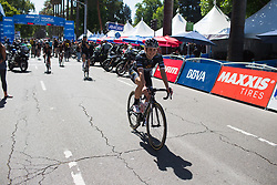 Grace Brown (AUS) of Wiggle High5 Cycling Team smiles before the start of Stage 3 of the Amgen Tour of California - a 70 km road race, starting and finishing in Sacramento on May 19, 2018, in California, United States. (Photo by Balint Hamvas/Velofocus.com)