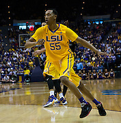 Tim Quaterman(55) LSU runs to the basket. LSU defeats Texas A&M 76-71 in Baton Rouge, Louisiana. Photo BY: Jerome Hicks/ Space City Images