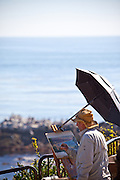 Local Artist Painting Laguna Beach Coastline