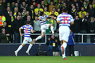 Picture by Paul Chesterton/Focus Images Ltd.  07904 640267.02/01/12.Joey Barton of QPR opens the scoring and celebrates during the Barclays Premier League match at Loftus Road Stadium, London.