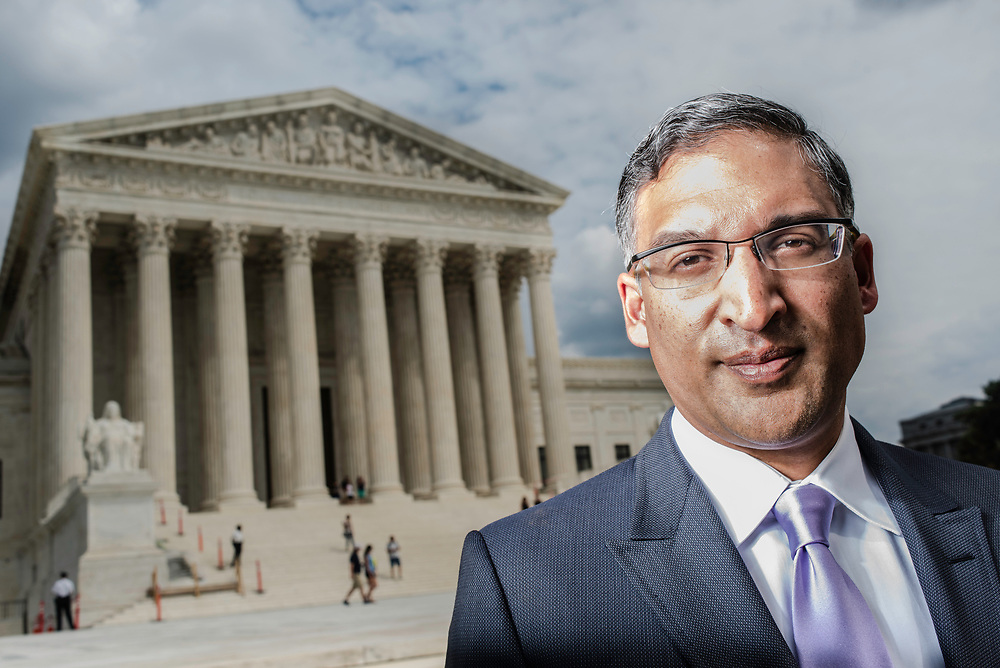 WASHINGTON, DC -- 8/10/17 -- Supreme Court lawyer Neal Katyal is one of the leading attorneys for the state of Hawaii as they fight President Trump's travel ban. Katyal, now an attorney with Hogan Lovells, and former Acting Solicitor General, has argued more cases before the Supreme Court, 34, than any other minority attorney except Thurgood Marshall, with whom he's currently tied..…by André Chung #_AC13984