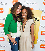 "(L to R) Dallas television personality Shon Gables and Mara Brock Akil, creator and executive producer of  BET's ""Being Mary Jane"", poses for a portrait before a screening  at the W Hotel in Dallas, Texas on June 22, 2013."