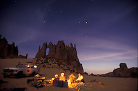 Campfire with Tuaregs in the Algerian Sahara