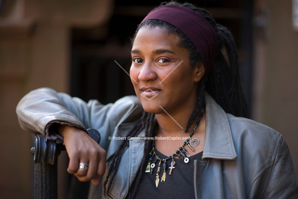 Playwright Lynn Nottage in Brooklyn, New York, U.S. April 1, 2007