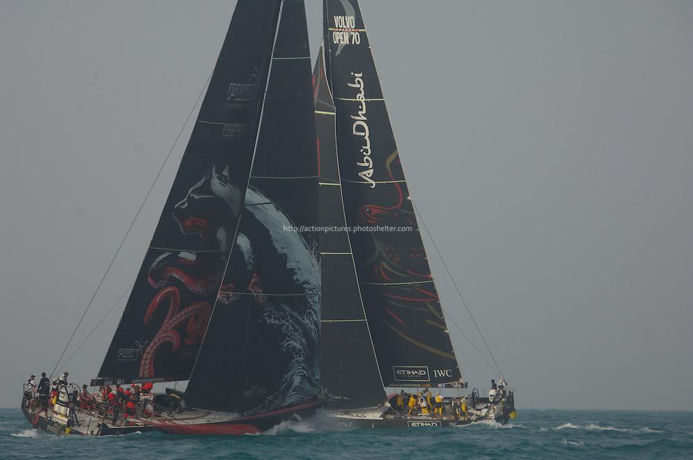 14.01.2012, Abu Dhabi. Volvo Ocean Race, leg 3 race, abu dhabi ocean racing boat, skipper Ian Walker
