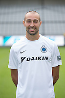 Club's Sebastien Bruzzese poses for the photographer during the 2015-2016 season photo shoot of Belgian first league soccer team Club Brugge, Friday 17 July 2015 in Brugge