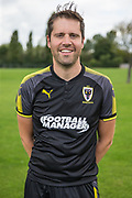 Robin Bedford during the AFC Wimbledon Photocall 2017 at the Kings Sports Ground, New Malden, United Kingdom on 1 August 2017. Photo by Shane Healey.
